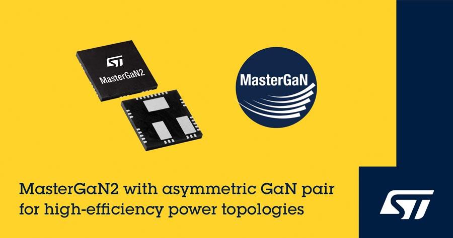 STMicroelectronics расширяет семейство MasterGaN новым устройством, оптимизированным для асимметричных топологий