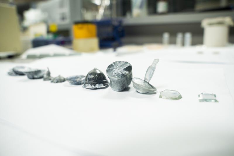 Образцы кристаллов оксида галлия