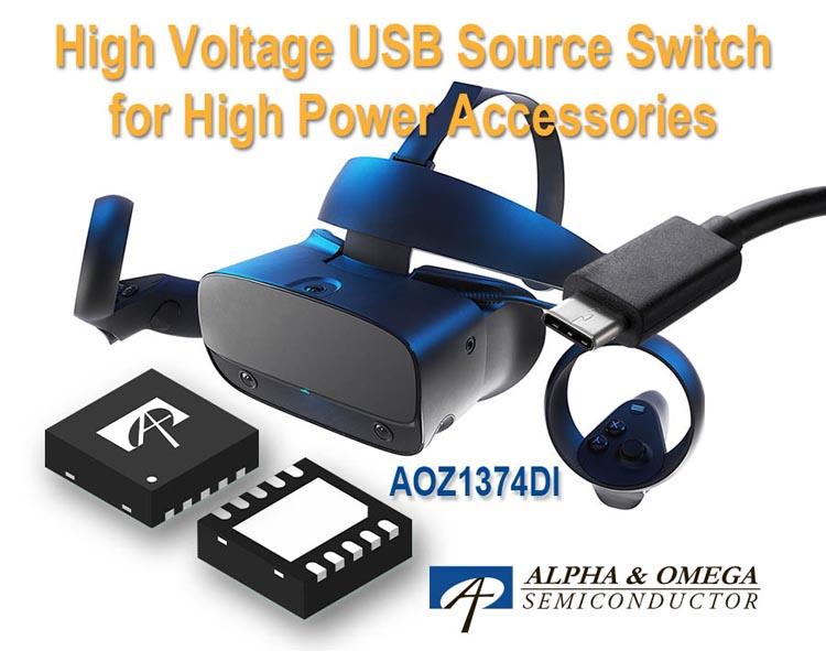 Alpha and Omega Semiconductor анонсирует высоковольтный ключ защиты линии питания интерфейса Type-C PD