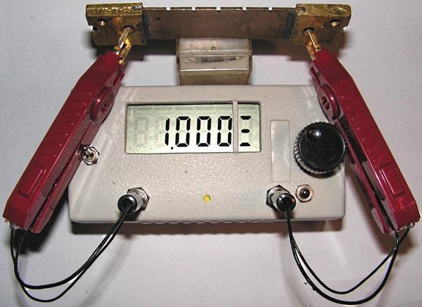 Измерения (третий диапазон) сопротивлений резисторов номиналом