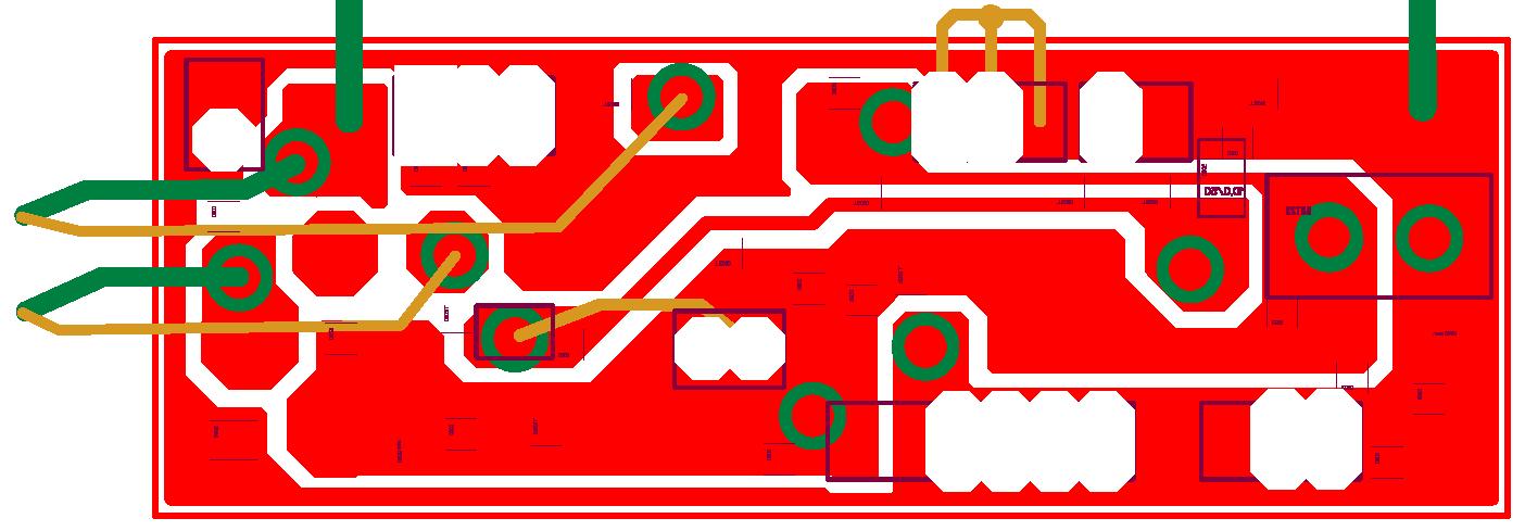 Плата миллиомметра: разводка (а) и внешний вид (б) платы сo стороны компонентов для поверхностного монтажа, (в) - разводка платы со стороны навесных компонентов.