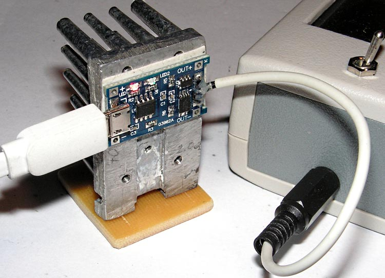 Зарядка аккумулятора прибора.