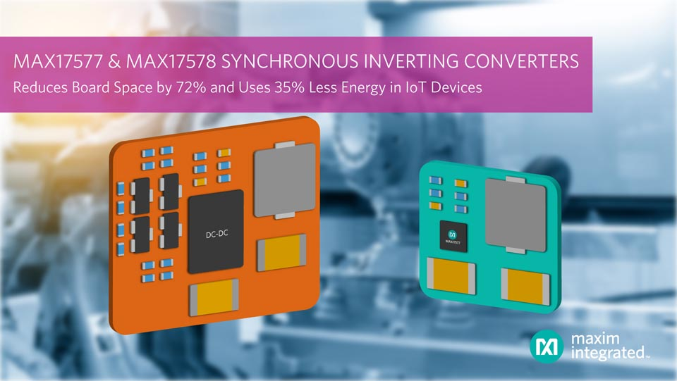 Maxim Integrated Synchronous DC-DC Inverting Converters