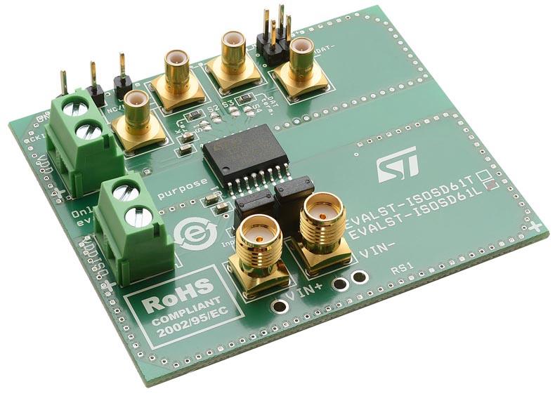 Evaluation board for ISOSD61L isolated sigma-delta converter