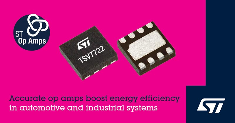 High-Accuracy Op Amp STMicroelectronics Targets Energy-Efficient