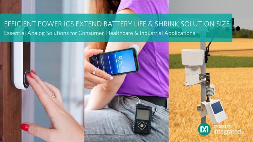 Maxim представляет самое энергоэффективное в отрасли семейство микросхем управления питанием