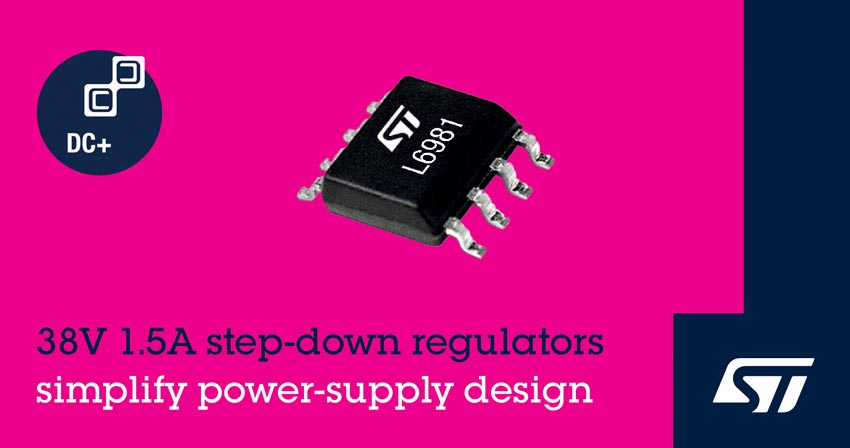 Integrated 1.5A Synchronous Regulators STMicroelectronics Simplify