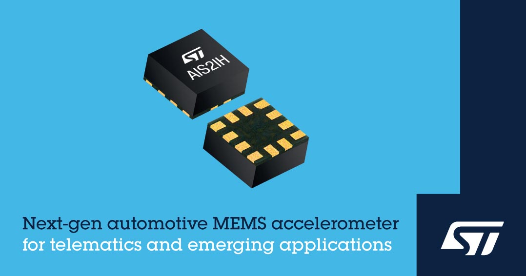 STMicroelectronics Unveils Next-Generation MEMS Accelerometer High-Performance