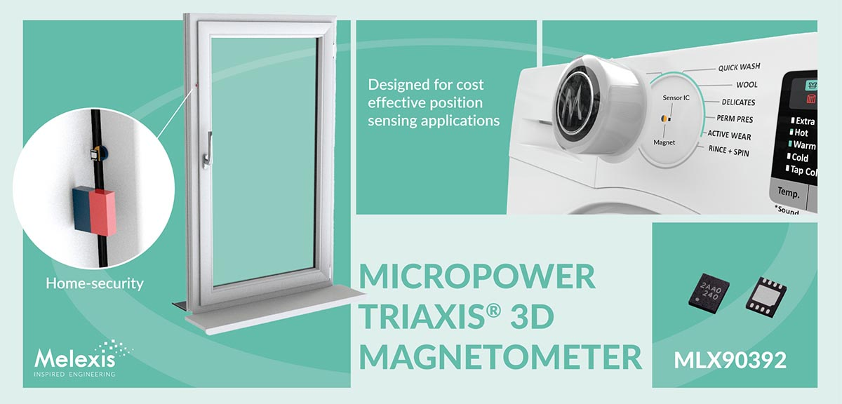 Melexis reveals compact low-voltage 3D magnetometer