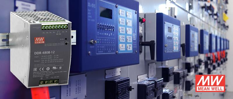 Компания Mean Well расширила семейство DC/DC-преобразователей DDR для DIN-рейки серией DDR-480