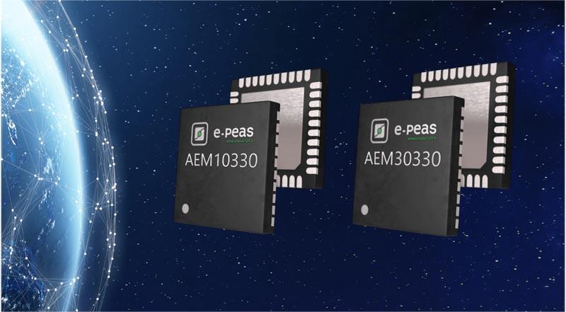 E-PEAS представляет универсальные микросхемы преобразователей для высокоэффективного сбора солнечной и вибрационной энергии