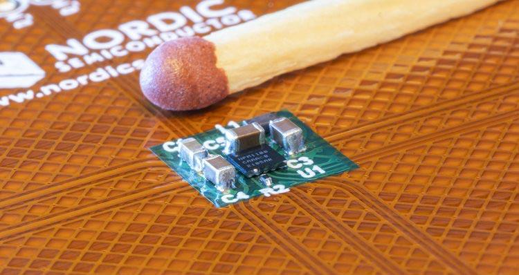 Nordic запускает в производство миниатюрную микросхему управления питанием со сверхнизким током потребления