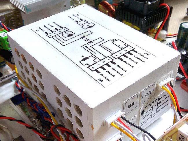 Модуль излучателя и фотоприёмника в интерьере прибора.