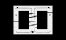 Схематическое устройство трансформатора