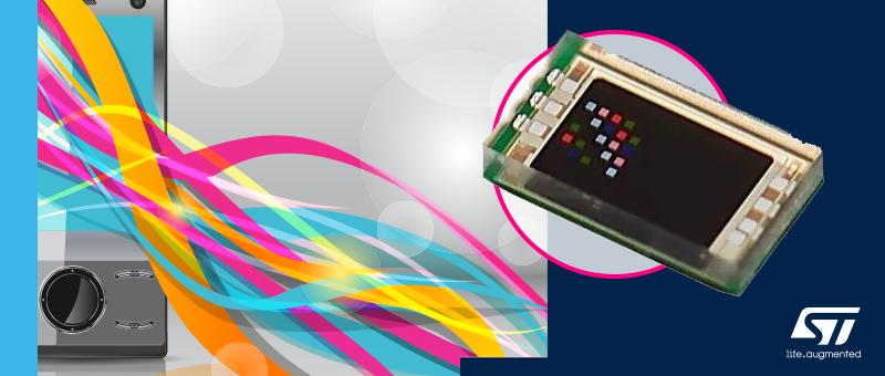 6-канальный датчик освещенности VD6283TX STMicroelectronics различает