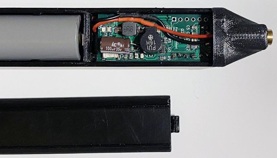 Компоновка компонентов ИК-термометра в корпусе.