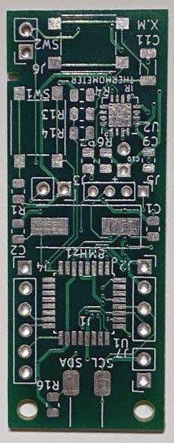 Внешний вид печатной платы ИК-термометра.