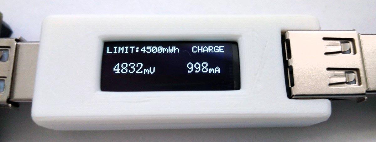 USB Phone Charge Guard charging control process.