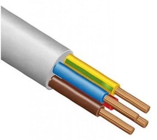 Электрический кабель ПВС 4х4, содержащий четыре жилы одинакового сечения.