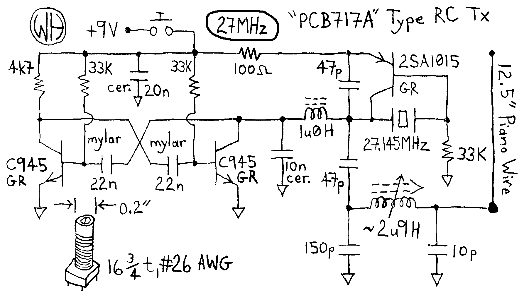 novotill RcCarsSimple WhRcTx27 simple rc cars single channel transmitters and super 27mhz transmitter circuit diagram at mifinder.co
