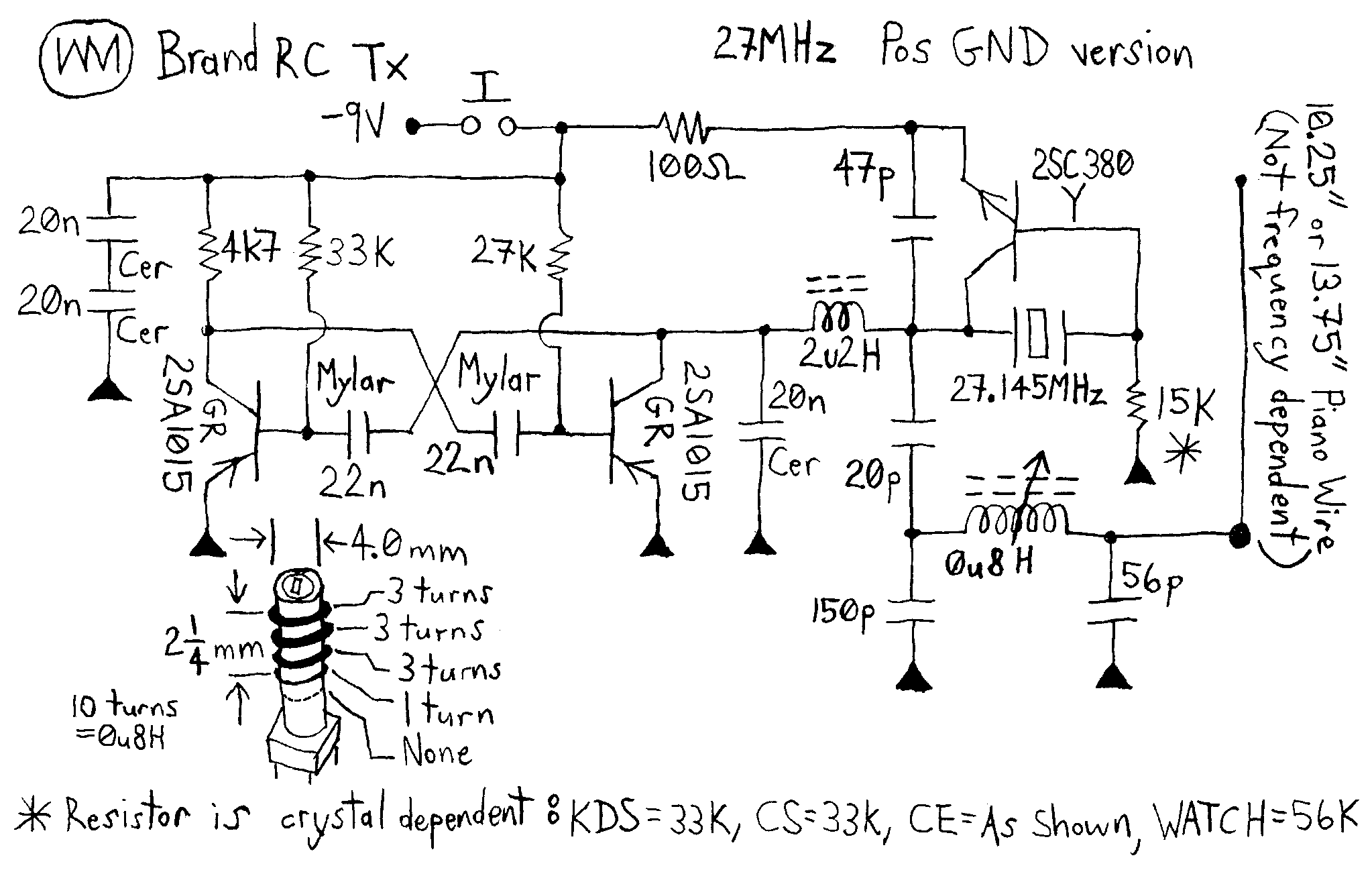 novotill RcCarsSimple WmRcTxPos27 simple rc cars single channel transmitters and super 27mhz transmitter circuit diagram at alyssarenee.co